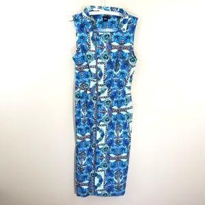 ASOS Sleeveless Floral Maxi Dress Zipper Allover 8